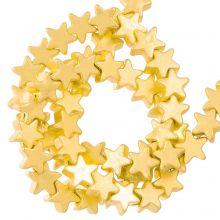 Hämatit Perlen Stern  (4 x 2 mm) Gold (115 Stück)