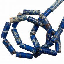 Regalit Jaspis Perlen (14 x 4.5 mm) Royal Blue (28 Stück)