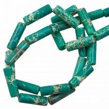 Regalit Jaspis Perlen (14 x 4.5 mm) Dark Turqoise (28 Stück)