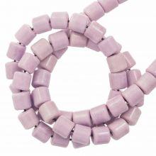 Achat Perlen Gefärbt (4.5 x 4.5 mm) Lilac (90 Stück)