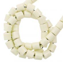 Achat Perlen Gefärbt (4.5 x 4.5 mm) Pale Yellow (90 Stück)
