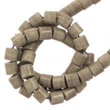 Achat Perlen Gefärbt (4.5 x 4.5 mm) Brown Grey (90 Stück)