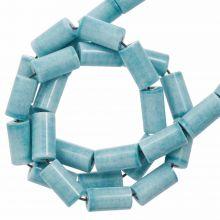 Achat Perlen Gefärbt (8 x 4 mm) Light Sky Blue (45 Stück)