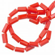 Glasperlen Opak (7 x 3 mm) Tomato Red (80 Stück)