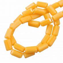 Glasperlen Opak (7 x 3 mm) Honey Yellow (80 Stück)