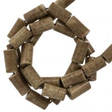 Achat Perlen Gefärbt (8 x 4 mm) Brown (45 Stück)