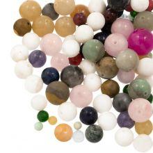Perlenmix - Naturstein Perlen (4, 6, 8, 10, 12 mm) 100 Gramm