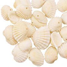 Muschel Charm (10 - 13 x 14 - 18 x 6 mm) Creamy White (20 Stück)