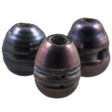 Süßwasserperlen (8 - 12 mm) Grey (5 Stück)