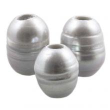 Süßwasserperlen (8 - 12 mm) Silver (5 Stück)