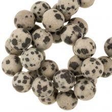 Dalmatiner Jaspis Perlen (6 mm) 60 Stück