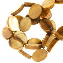 Süßwasserperlen - Muschelperlen (8 x 6 mm) Golden Brown (46 Stück)