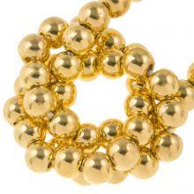 Galvanisierte Hämatit Perlen (3 mm) Gold (130 Stück)