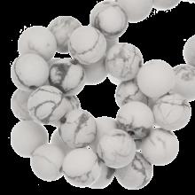 Howlith Frosted Perlen (6 mm) 60 Stück