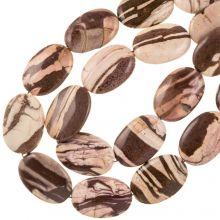 Zebra Jaspis Perlen (30 x 20 mm) 13 Stück