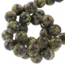 Labradorit Perlen (8 mm) Dark Lime (46 Stück)