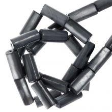 Muschelperlen (10 x 4 mm) Slate Grey (36 Stück)