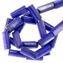 Muschelperlen (10 x 4 mm) Blue (36 Stück)