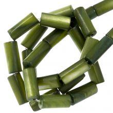 Muschelperlen (10 x 4 mm) Green (36 Stück)