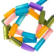 Muschelperlen (10 x 4 mm) Mix Color (36 Stück)