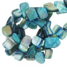 Muschelperlen (8 x 8 mm) Turquoise (48 Stück)
