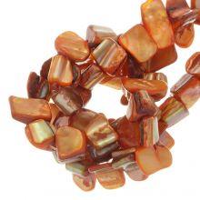 Muschelperlen (8 x 8 mm) Orange (48 Stück)