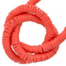 Polymer Perlen (4 x 1 mm) Coral (350 Stück)