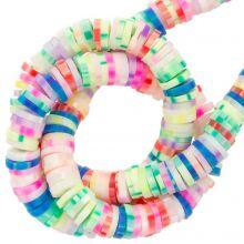 Polymer Perlen (6 x 1 mm) Mix Color Neon (300 Stück)