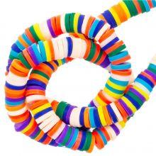 Polymer Perlen (6 x 1 mm) Mix Color Bright (300 Stück)