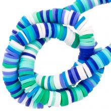 Polymer Perlen (6 x 1 mm) Mix Color Blue (300 Stück)
