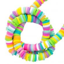 Polymer Perlen (4 x 1 mm) Mix Color Happy (300 Stück)