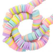 Polymer Perlen (6 x 1 mm) Mix Color Pastel (300 Stück)