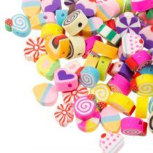Polymer Perlen Mischung (11 x 5 mm) Mix Color (50 Stück)