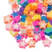Polymer Perlen Mischung Sterne (9 x 4.5 mm) Mix Color (50 Stück)