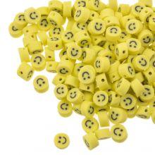 Polymer Perlen Smiley (5 x 3 mm) Yellow (50 Stück)