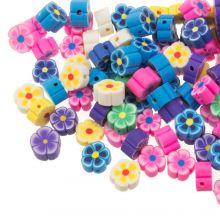 Polymer Perlen Mischung Blumen (9 x 4 mm) Mix Color (50 Stück)