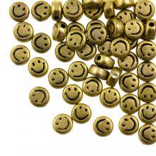 Acrylperlen Smiley (7 x 3.5 mm) Gold (50 Stück)