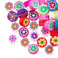 Polymer Perlen Mischung Blumen (10 x 4.5 mm) Mix Color (50 Stück)