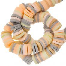 Polymer Perlen (6 x 1 mm) Mix Color Vanilla (300 Stück)