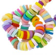 Polymer Perlen (4 x 1 mm) Mix Color Bright (300 Stück)