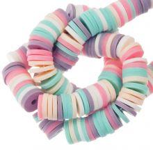 Polymer Perlen (6 x 1 mm) Mix Color Fancy (300 Stück)