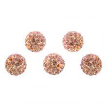 Shamballa Perlen (10 mm) Salmon Peach (5 Stück)