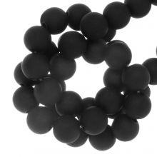 Acrylperlen Matt (8 mm) Black (100 Stück)