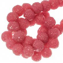 Acrylperlen Strass (8 mm) Candy Pink (25 Stück)