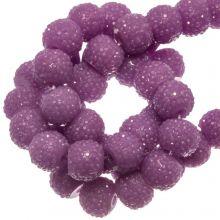 Acrylperlen Strass (8 mm) Purple (25 Stück)