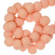 Acrylperlen Strass (6 mm) Light Peach (30 Stück)