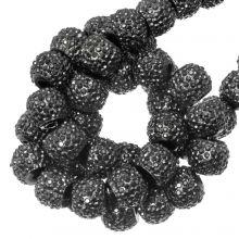 Acrylperlen Strass (4 mm) Metallic Dark Grey (45 Stück)