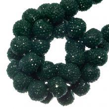 Acrylperlen Strass (4 mm) Pine Green (45 Stück)