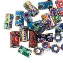 Perlenmischung - Polymer Perlen (11 x 6 mm) Mix Color (25 Stück)