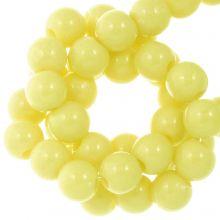 Acrylperlen (8 mm) Pastel Yellow (100 Stück)